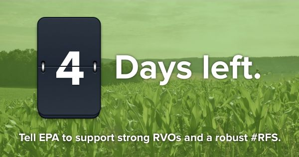 Tell the EPA to support strong RVOs and a robust RFS.